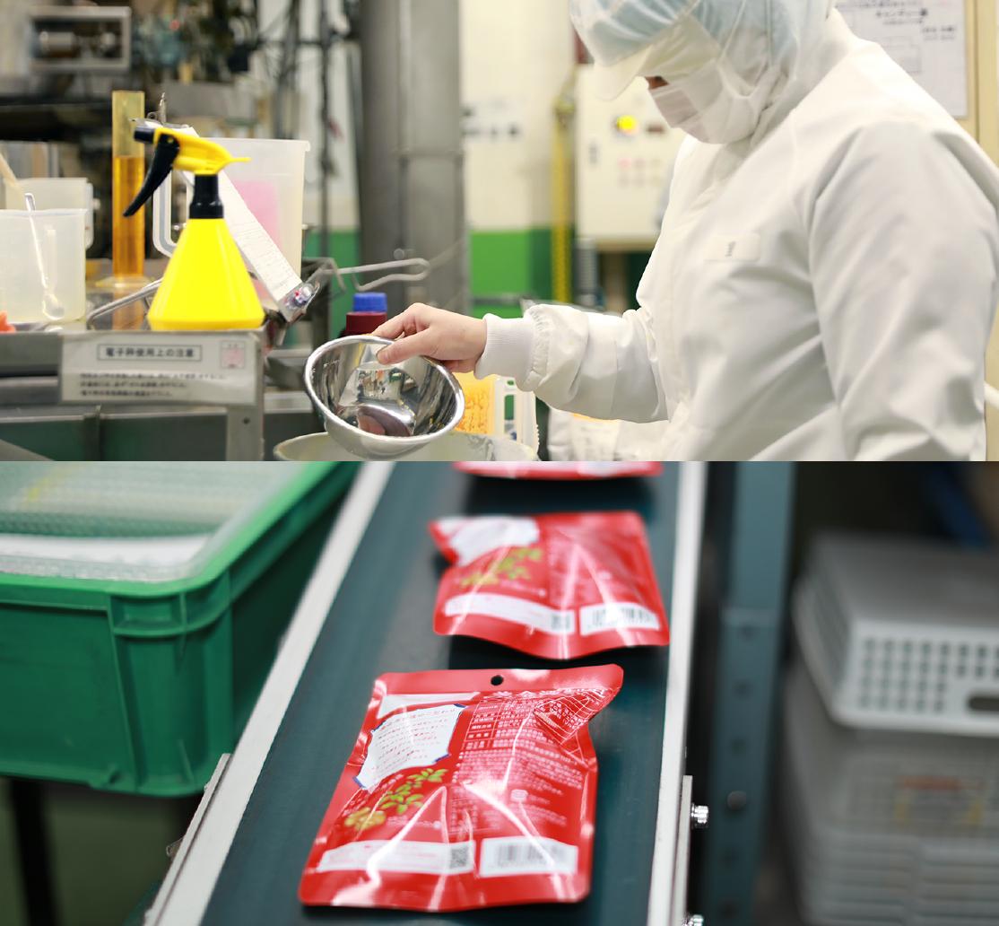 品質管理の徹底された製造ライン(ISO取得)で生産